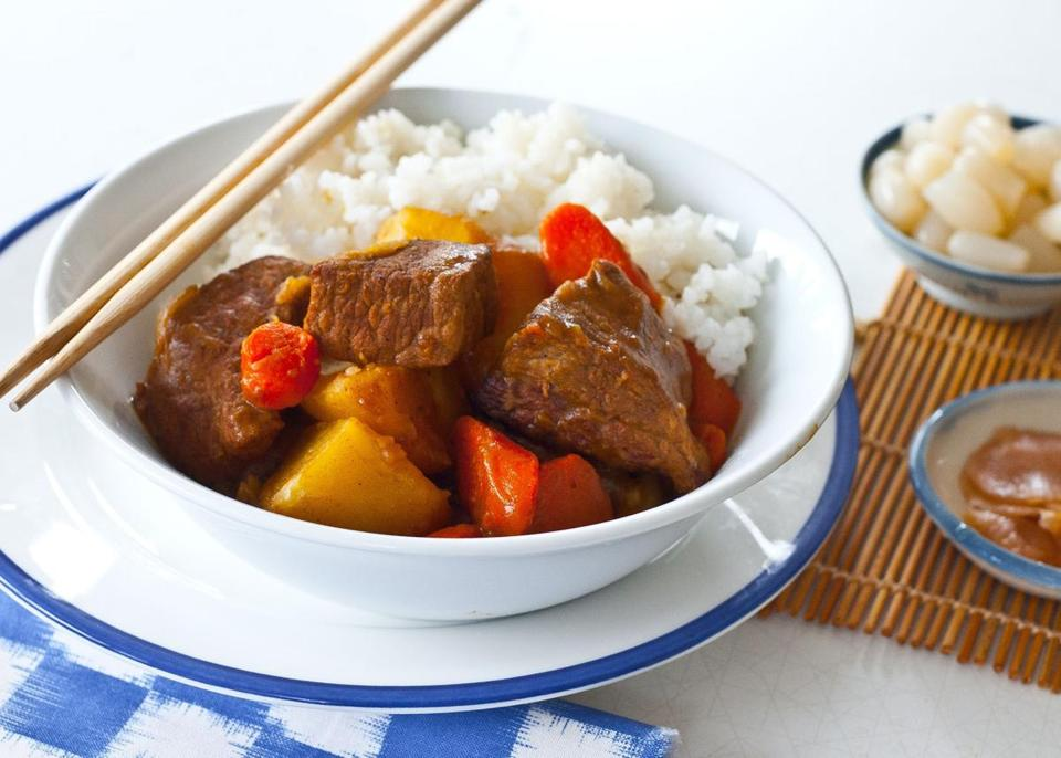 Japanese beef curry.